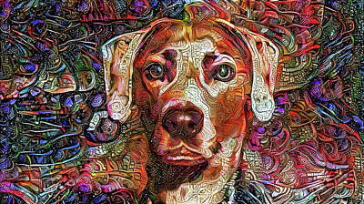 Cash The Lacy Dog Art Print