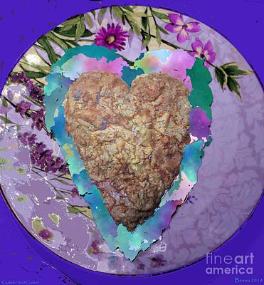 Photograph - Cashew Heart Cookie by Marlene Rose Besso