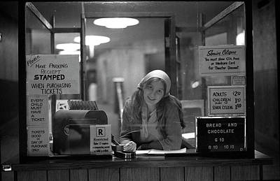 Photograph - Cashier, Devon Theatre, 1979 by Jeremy Butler