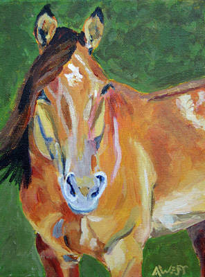 Chestnut Horse Painting - Casino by Anne West