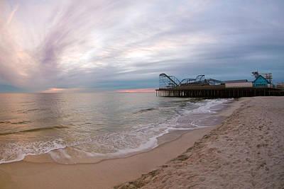 Jetstar Photograph - Casino Pier Sunrise by Robert Siliato