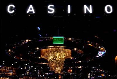 Photograph - Casino Sign - Black by Matt Harang