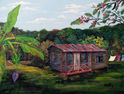 Painting - Casita Linda by Gloria E Barreto-Rodriguez
