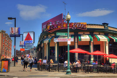 Boston Red Sox Photograph - Cask'n Flagon And The Citgo Sign - Boston by Joann Vitali