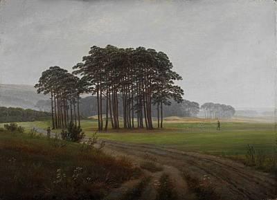 Caspar David Friedrich, Landscape Art Print by Celestial Images