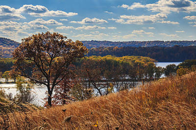 Photograph - Casper Bluff Overlooking The Mississippi by Joni Eskridge