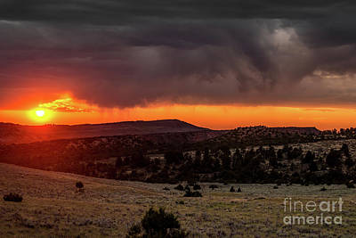 Photograph - Casper Mountain Sunset - Wyoming by Gary Whitton