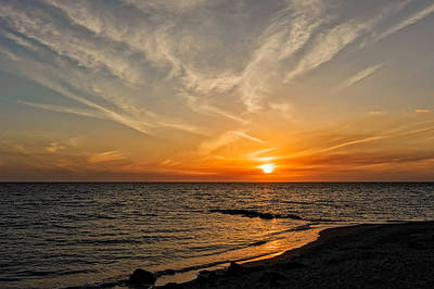 Southwest Florida Sunset Photograph - Caspersen Beach Gulf Coast Sunset  -  4 by Frank J Benz