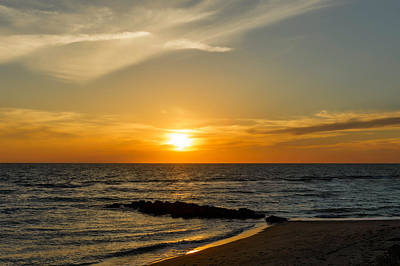 Southwest Florida Sunset Photograph - Caspersen Beach Sunset 1   -   Caspbch35 by Frank J Benz