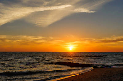 Southwest Florida Sunset Photograph - Caspersen Beach Sunset 2   -  Casbch45 by Frank J Benz
