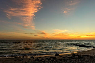 Southwest Florida Sunset Photograph - Caspersen Beach Sunset 3  -  Casbch65 by Frank J Benz