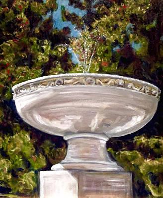 Painting - Cass Gilbert Fountain Ridgefield Ct. by David  Llanos