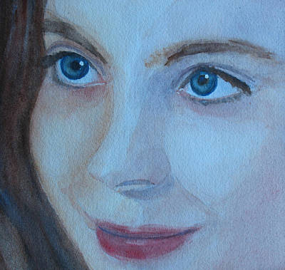 Portrate Painting - Cass Up Close by Jenny Armitage