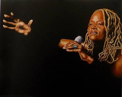 Painting - Cassandra Wilson by Pascal Martos