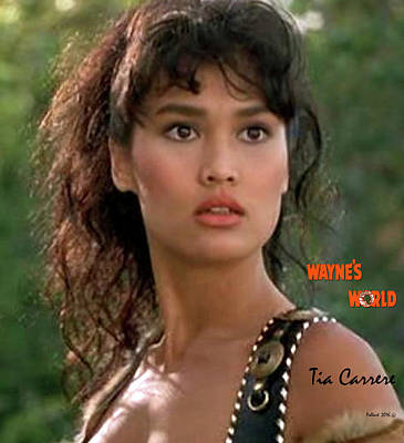 Mixed Media Mixed Media - Cassandra Wong, Wayne's World, Tia Carrere by Thomas Pollart