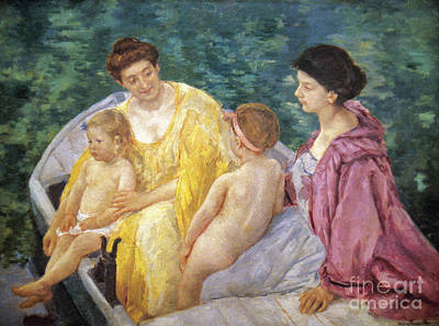 Cassatt: The Swim, 1910 Art Print by Granger