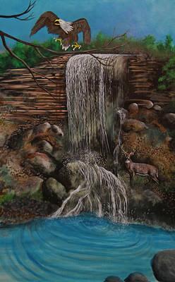Casscading Waterfall Art Print