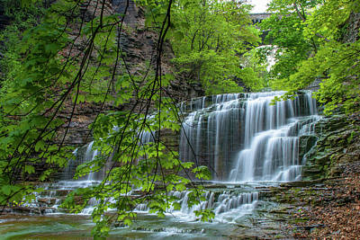 Photograph - Casscidilla Gorge Falls by Optical Playground By MP Ray