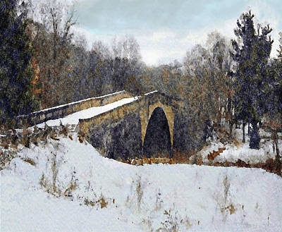 Mixed Media - Casselman River Bridge by Dennis Buckman