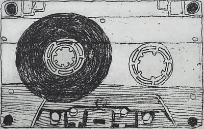 Tape Mixed Media - Cassette Tape 2 by Shin Del