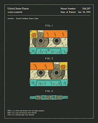 Cassette Tape Patent 1991 Art Print