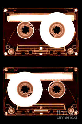 Photograph - Cassette Tapes by Clayton Bastiani
