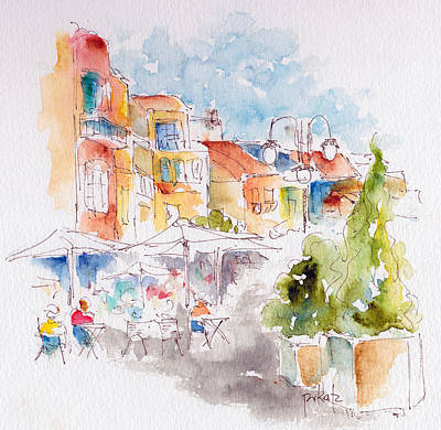 Painting - Cassis Along The Promenade by Pat Katz