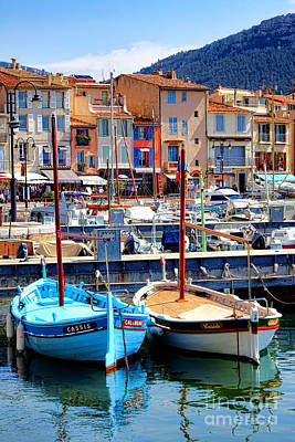 Colorful Buildings Photograph - Cassis Harbor by Olivier Le Queinec