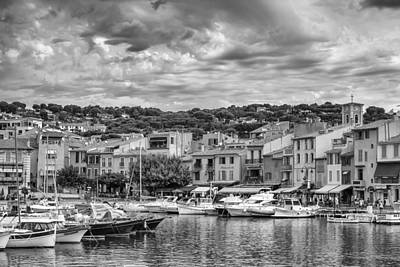 Cassis - South Of France In Mono Art Print by Georgia Fowler