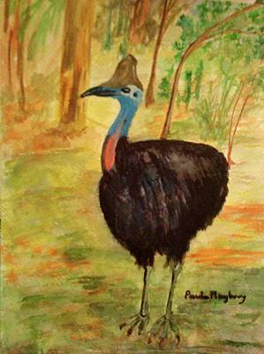 Painting - Cassowary Bird by Paula Maybery