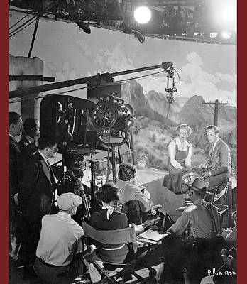 Cast And Crew The Petrified Forest Warner Brothers Soundstage Culver Ca 1936-2016 Art Print by David Lee Guss