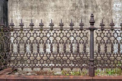 Photograph - Cast Iron Fence- Lafayette 2 Nola by Kathleen K Parker