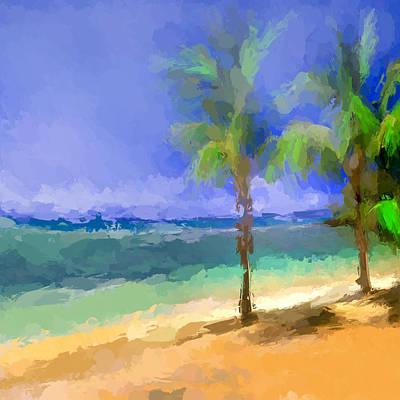 Beach Landscape Mixed Media - Castaway by Anthony Fishburne