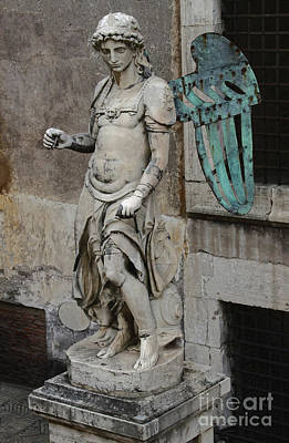 Photograph - Castel Sant'angelo Angel by Gregory Dyer