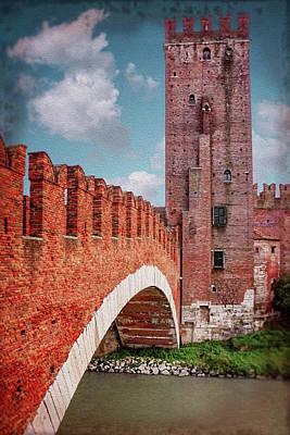 Photograph - Castel Vecchio Bridge Verona Italy  by Carol Japp