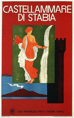 Royalty-Free and Rights-Managed Images - Castellammare Di Stabia, Naples, Italy - Retro travel Poster - Vintage Poster by Studio Grafiikka
