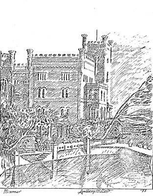Castello Di Miramare Art Print by Anthony Meton