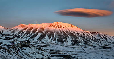 Sunset Wall Art - Photograph - Castelluccio Di Norcia, Umbria, Italy by Francesco Santini