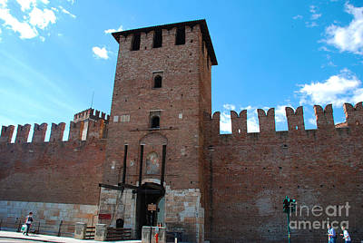 Architecture Photograph - Castelvecchio Or Old Castle In Verona Italy by Just Eclectic