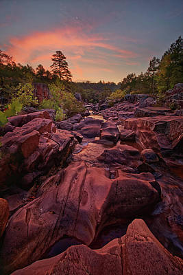 Photograph - Caster River Shut-ins. by Robert Charity
