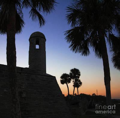 Castillo At Dusk -- Castillo De San Marcos, St Augustine Florida Art Print