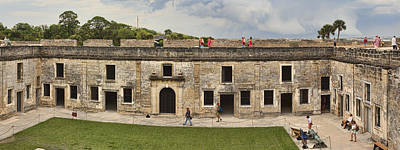 Photograph - Castillo De San Marcos - Courtyard  by Gregory Scott