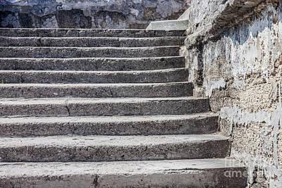 Photograph - Castillo De San Marcos Stairway No. 3 by Todd A Blanchard