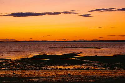 Photograph - Castine Beach Sunset by Polly Castor