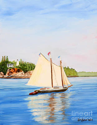 Painting - Castine Harbor And Dice Head Light by Stella Sherman