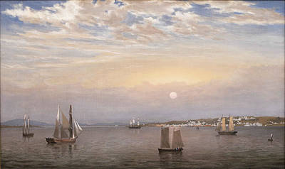 Fitz Painting - Castine Harbor And Town by Fitz Henry Lane