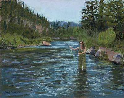 Big Thompson River Painting - Casting Call by Mary Benke