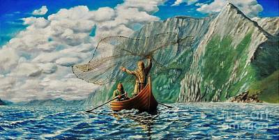 Painting - Casting Of The Net by Ruanna Sion Shadd a'Dann'l Yoder