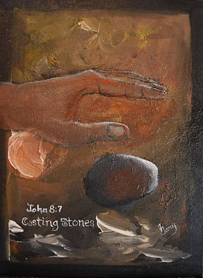 Painting - Casting Stones by Gary Smith