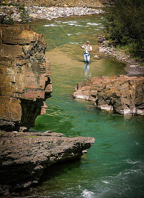 Photograph - Casting To Trout On The Bighorn by Karen Rispin